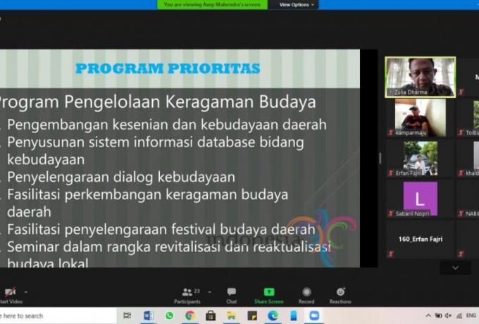Optimalisasi Potensi Pariwisata Kampar, IPRY-KK Gelar Webinar