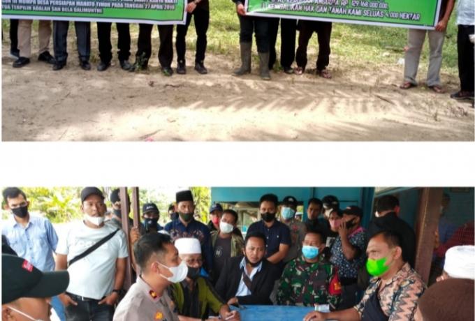 Wakapolres Rohul Kompol Adi Prabowo, SIK.SH.MH, Mediasi Perwakilan Aksi Dengan PT. Torganda