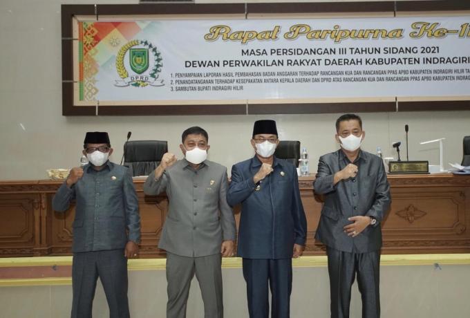 DPRD Inhil Gelar Rapat Paripurna ke-11 Masa Persidangan III Tahun 2021