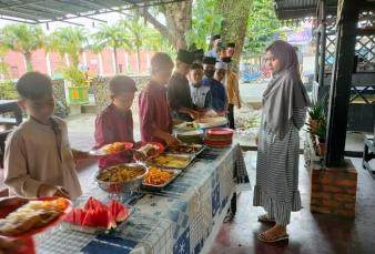 Jumat Barokah Satreskrim Polres Kampar Hari ini, Diikuti Anak-anak Panti Asuhan Putra dan Putri