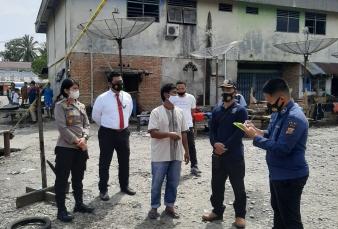 Tim Laboratorium Foreksik Polda Riau Cek TKP Kebakaran Pasar Kuok