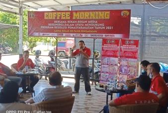 Kalapas Kelas IIB Pasir Pangaraian Coffee Morning Dengan Wartawan