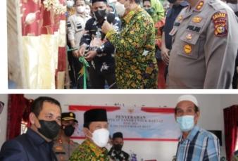 Bupati H. Sukiman Resmikan Gedung Tahfidz dan Bagikan Sertifikat PTSL Di Tambusai Utara