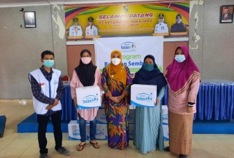 Berbagai Program Bantuan Dibagikan Rumah Yatim kepada Warga Kecamatan Sukajadi Pekanbaru