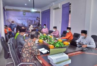 Sekda Kampar Ikuti Rapat Evaluasi Pembahasan Perubahan APBD 2021 Bersama Pemprov Riau