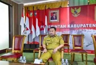 Bupati Kampar Ikuti Rakor Bersama  Presiden RI Kondisi Indonesia Terkini